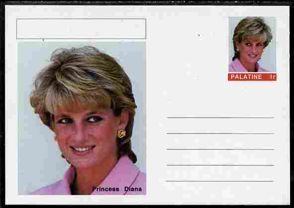 Palatine (Fantasy) Personalities - Princess Diana postal stationery card unused and fine