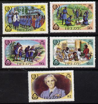 Belize 1985 Youth Year & Guides set of 5 unmounted mint (SG 815-9)*