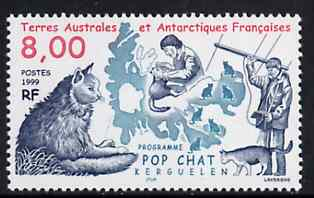 French Southern & Antarctic Territories 1999 Cat Research Programme unmounted mint, SG 400