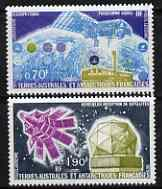 French Southern & Antarctic Territories 1979 Satellite Research perf set of 2 unmounted mint, SG 128-29