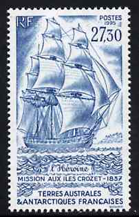French Southern & Antarctic Territories 1995 Expedition of Heroine to Crozet Is 27f30 unmounted mint, SG 344
