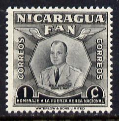 Nicaragua 1954 National Air Force Commemoration - 1c Capt Dean L Ray (aviator) unmounted mint SG 1209