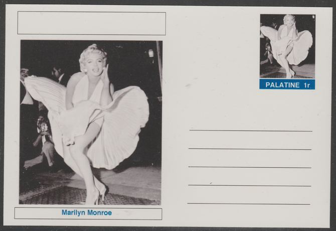 Palatine (Fantasy) Personalities - Marilyn Monroe postal stationery card unused and fine