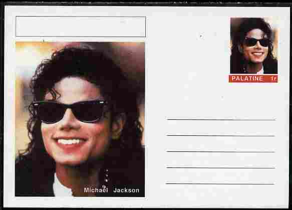 Palatine (Fantasy) Personalities - Michael Jackson postal stationery card unused and fine