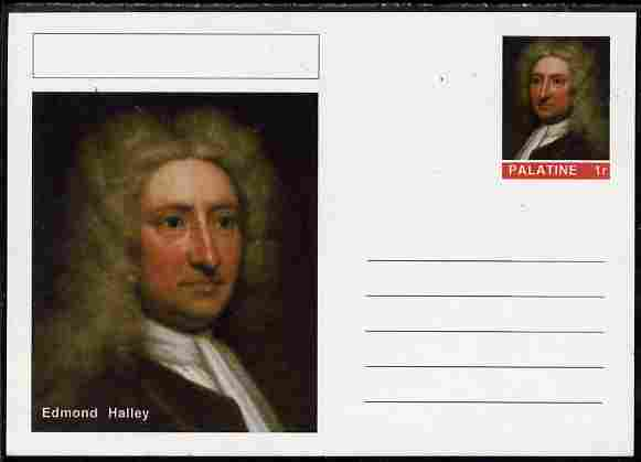 Palatine (Fantasy) Personalities - Edmond Halley postal stationery card unused and fine