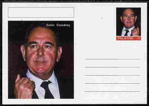 Palatine (Fantasy) Personalities - Colin Cowdrey (cricket) postal stationery card unused and fine