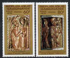 Gabon 1978 Christmas - Sculptures perf set of 2 unmounted mint, SG 678-79