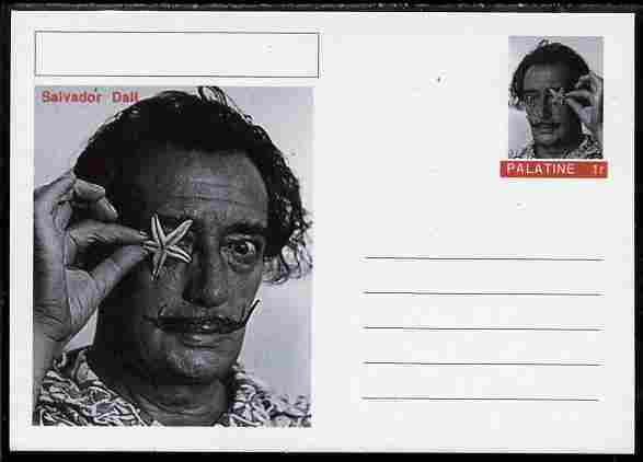 Palatine (Fantasy) Personalities - Salvador Dali postal stationery card unused and fine