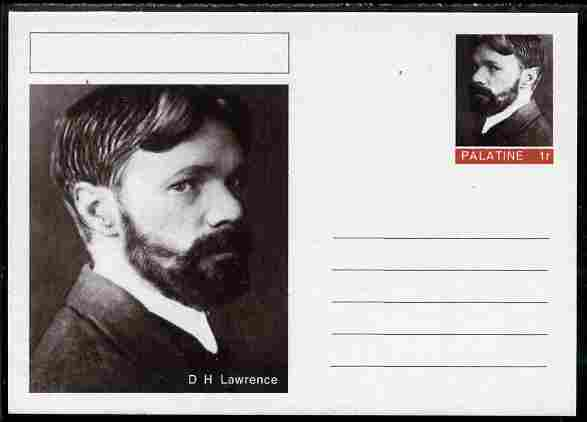 Palatine (Fantasy) Personalities - D H Lawrence postal stationery card unused and fine