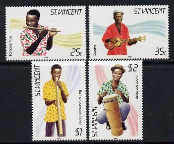 St Vincent 1985 Musical Instruments set of 4 unmounted mint SG 905-8