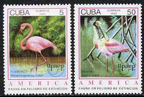 Cuba 1993 America - Endangered Animals perf set of 2 unmounted mint, SG 3850-51