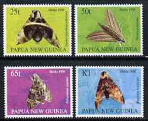 Papua New Guinea 1998 Moths perf set of 4 unmounted mint, SG 833-36