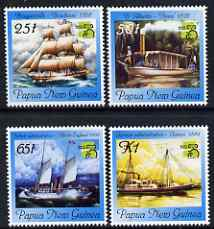 Papua New Guinea 1999 Australia '99 Stamp Exhibition - Ships perf set of 4 unmounted mint, SG 853-56