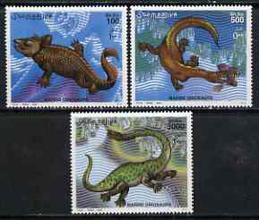 Somalia 2000 Prehistoric Animals (Marine) perf set of 3 unmounted mint, Mi 843-45