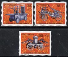 Somalia 2001 Early Fire Engines perf set of 3 unmounted mint, Michel 879-81