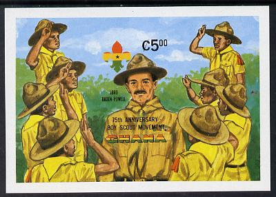 Ghana 1982 75th Anniversary of Scouting m/s IMPERF from limited printing unmounted mint (as SG MS 995)