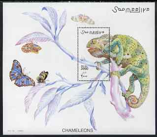 Somalia 2001 Chameleons perf m/sheet unmounted mint, Michel BL 78, stamps on reptiles, stamps on chameleons