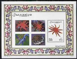 Somalia 2001 Marine Life - Starfish perf m/sheet unmounted mint, Michel BL 80