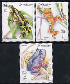 Somalia 2002 Frogs perf set of 3 unmounted mint Michel 955-7