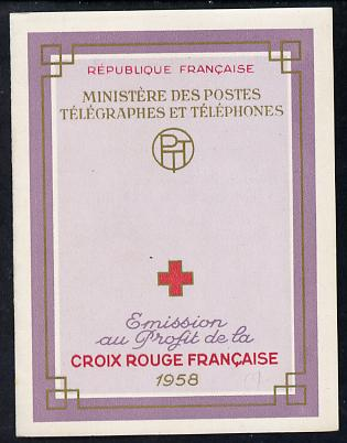 Booklet - France 1958 Red Cross Booklet complete and very fine, SG XSB8, Yv 2007