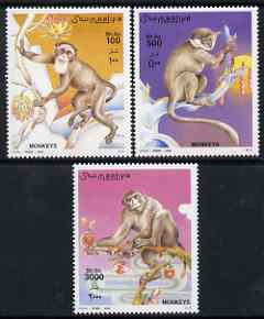 Somalia 2002 Monkeys perf set of 3 unmounted mint Michel 942-4