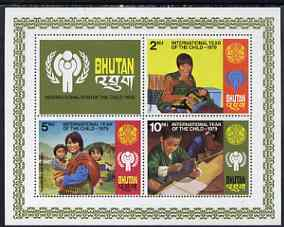 Bhutan 1979 International Year of the Child perf m/sheet unmounted mint, SG MS 414