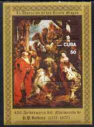 Cuba 1977 400th Birth Anniversary of Peter Paul Rubens perf m/sheet unmounted mint, SG MS 2414