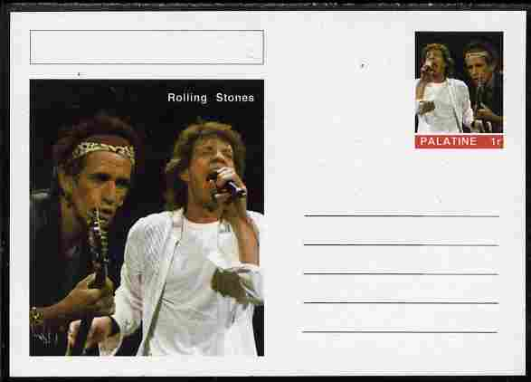 Palatine (Fantasy) Personalities - Rolling Stones postal stationery card unused and fine