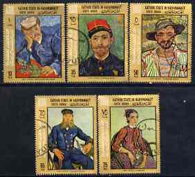 Aden - Kathiri 1968 Paintings by Van Gogh Postage set of 5 cto used, Mi 202-206