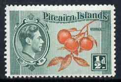 Pitcairn Islands 1940-51 Oranges 1/2d unmounted mint, SG 1