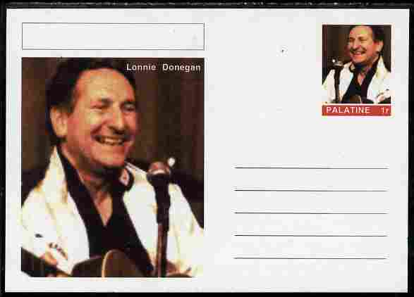 Palatine (Fantasy) Personalities - Lonnie Donegan postal stationery card unused and fine