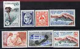 New Caledonia 1960 Postal Centenary perf set of 7 unmounted mint, SG 358-64