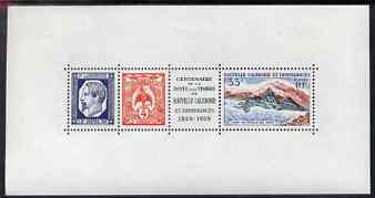 New Caledonia 1960 Postal Centenary perf m/sheet unmounted mint, SG MS364a