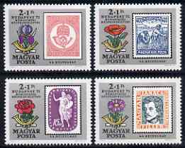 Hungary 1971 Budapest '71 Stamp Exhibition & Stamp Centenary (3rd issue) perf set of 4 unmounted mint, SG 2604-07