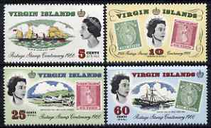 British Virgin Islands 1965 Stamp Centenary perf set of 4 unmounted mint, SG 203-06*