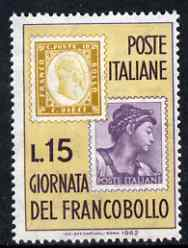 Italy 1962 Stamp Day (Stamp on Stamp) unmounted mint, SG 1086*