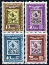 Turkey 1963 Stamp Centenary perf set of 4 unmounted mint, SG 1990-93*