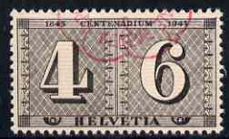 Switzerland 1943 Cantonal Stamp Centenary 10c (4c+6c) fine used with Exhibition cancel SG 430*