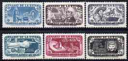 Mexico 1956 Stamp Centenary (Air) set of 6 unmounted mint, SG 937-42