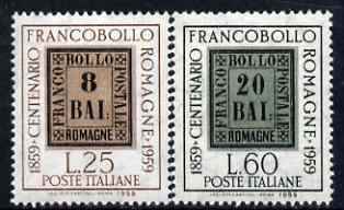 Italy 1959 Romagna Stamp Centenary perf set of 2 unmounted mint, SG 1010-11