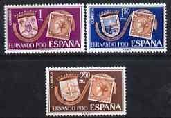 Fernando Poo 1968 Stamp Centenary perf set of 3 unmounted mint, SG 303-305*
