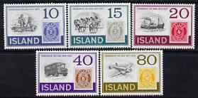 Iceland 1973 Stamp Centenary perf set of 5 unmounted mint, SG 504-508*