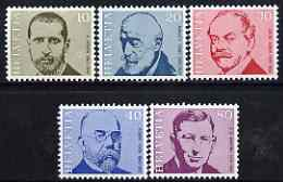 Switzerland 1971 Famous Physicians perf set of 5 unmounted mint, SG 819-23