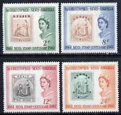 St Kitts-Nevis 1961 Stamp Centenary perf set of 4 unmounted mint, SG 123-26*