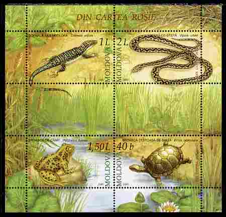 Moldova 2005 Reptiles & Amphibians perf m/sheet containing 4 values unmounted mint, SG MS 523