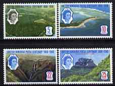 British Honduras 1966 Stamp Centenary perf set of 4 unmounted mint, SG 235-38