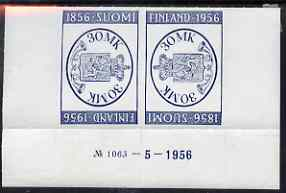 Finland 1956 Stamp Centenary & Exhibition tete-beche pair unmounted mint, SG 560a