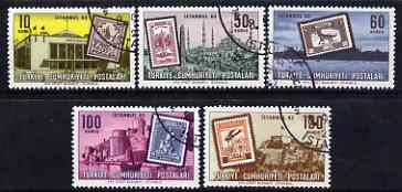 Turkey 1963 Istanbul '63 International Philatelic Exhibition perf set of 5 fine used, SG 2030-34
