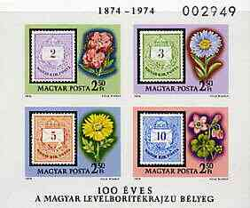 Hungary 1974 Centenary of 'Envelope Design' Stamp imperf m/sheet unmounted mint, as SG MS 2877, Mi BL105B