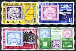 St Lucia 1972 Stamp Centenary perf set of 4 unmounted mint, SG 335-38